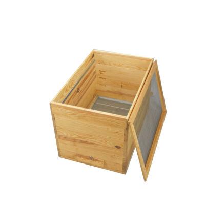Tolnai konténerkaptár, higiénikus lemezzel + taposóráccsal